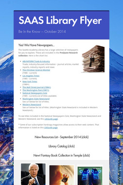 SAAS Library Flyer