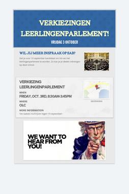 Verkiezingen leerlingenparlement!
