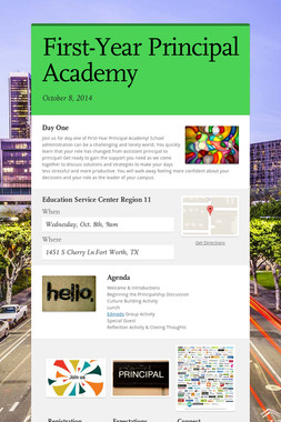 First-Year Principal Academy