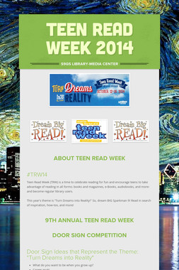 TEEN READ WEEK 2014