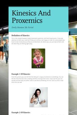 Kinesics And Proxemics