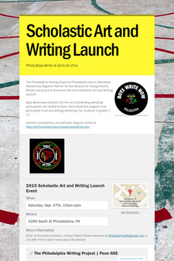 Scholastic Art and Writing Launch