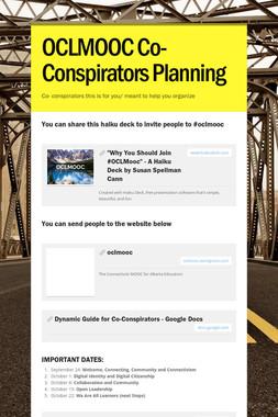 OCLMOOC Co- Conspirators Planning