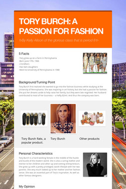TORY BURCH: A PASSION FOR FASHION