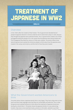 Treatment of Japanese in WW2