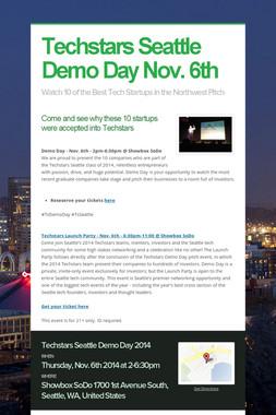 Techstars Seattle Demo Day Nov. 6th
