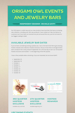 Origami Owl Events and Jewelry Bars