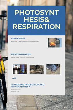 Photosynthesis& Respiration
