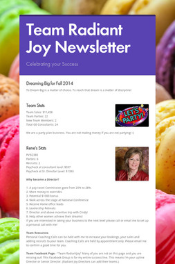 Team Radiant Joy  Newsletter