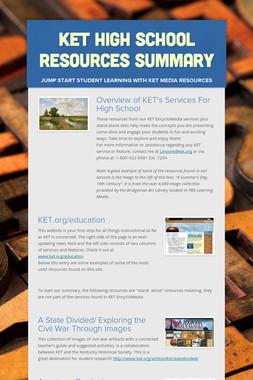 KET High School Resources Summary