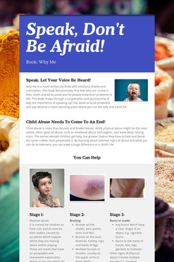 Speak, Don't Be Afraid!