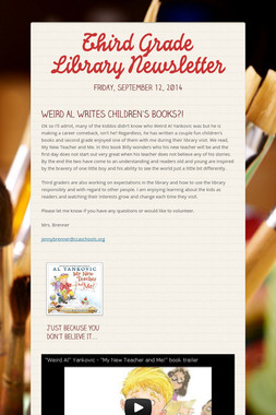 Third Grade Library Newsletter