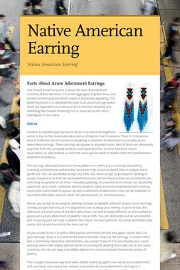 Native American Earring