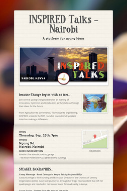 INSPIRED Talks - Nairobi
