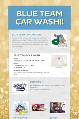Blue Team Car Wash!!