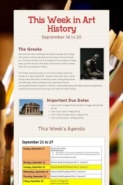 This Week in Art History