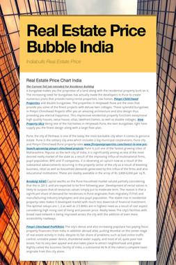 Real Estate Price Bubble India