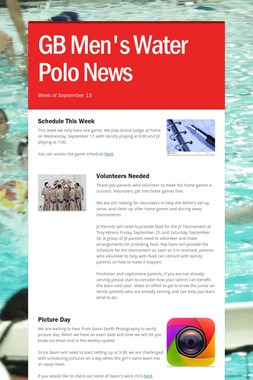 GB Men's Water Polo News