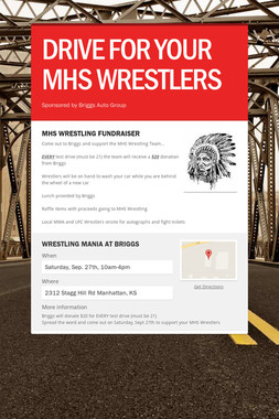DRIVE FOR YOUR MHS WRESTLERS