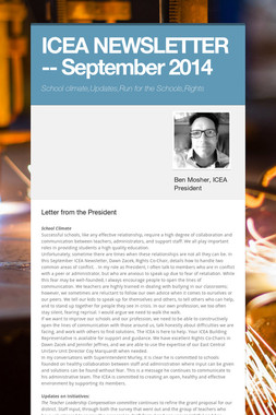 ICEA NEWSLETTER -- September 2014