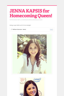 JENNA KAPSIS for Homecoming Queen!