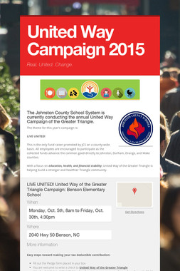 United Way Campaign 2015