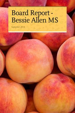Board Report - Bessie Allen MS