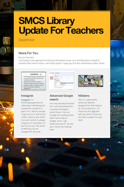 SMCS Library Update For Teachers
