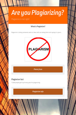 Are you Plagiarizing?