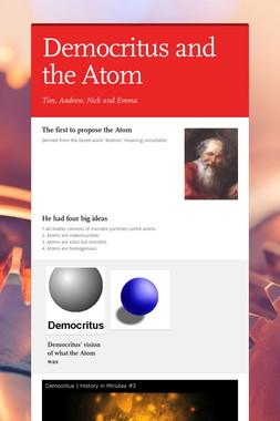 Democritus and the Atom