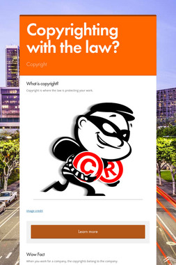 Copyrighting with the law?
