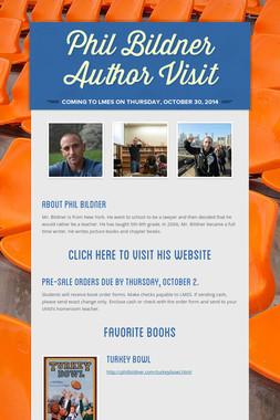 Phil Bildner Author Visit