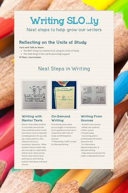 Writing SLO...ly