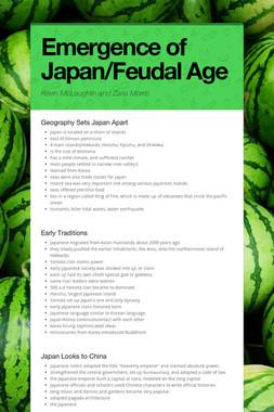 Emergence of Japan/Feudal Age