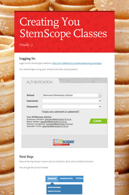 Creating You StemScope Classes