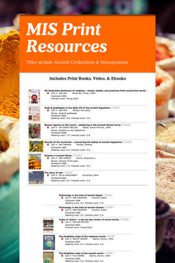MIS Print Resources