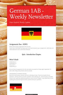 German 1AB - Weekly Newsletter