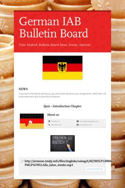 German IAB Bulletin Board