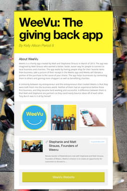 WeeVu: The giving back app