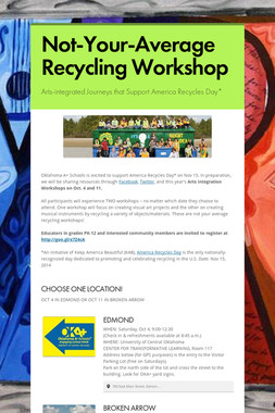 Not-Your-Average Recycling Workshop