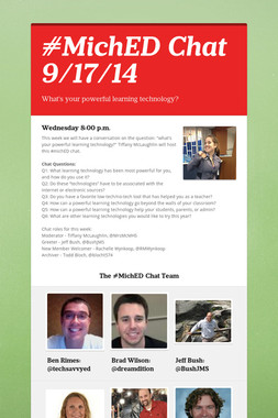 #MichED Chat 9/17/14