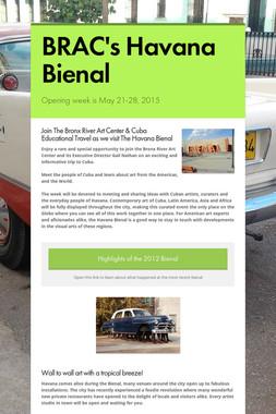 BRAC's Havana Bienal
