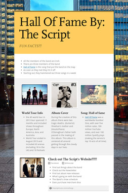 Hall Of Fame     By: The Script