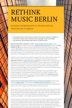 RETHINK MUSIC BERLIN