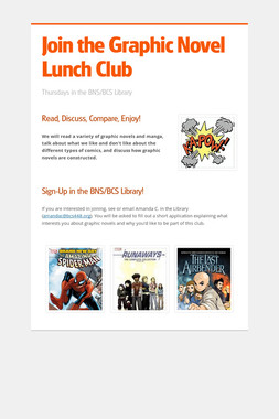 Join the Graphic Novel Lunch Club