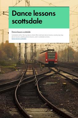 Dance lessons scottsdale