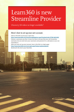 Learn360 is new Streamline Provider