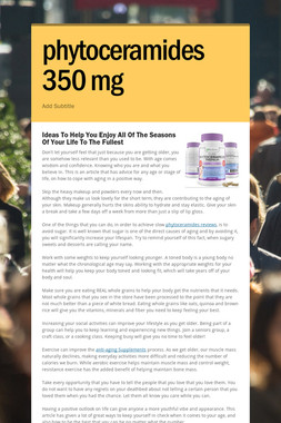 phytoceramides 350 mg