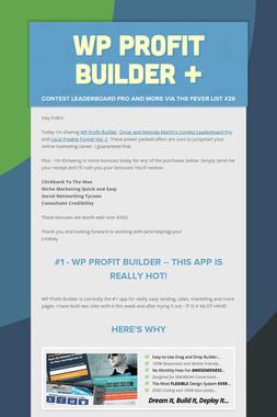 WP Profit Builder +