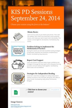 KIS PD Sessions September 24, 2014